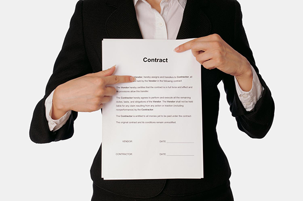 woman holding contract